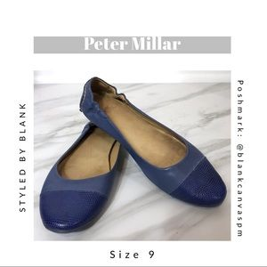 Peter Millar Blue Drivers with Snake Print Captoe